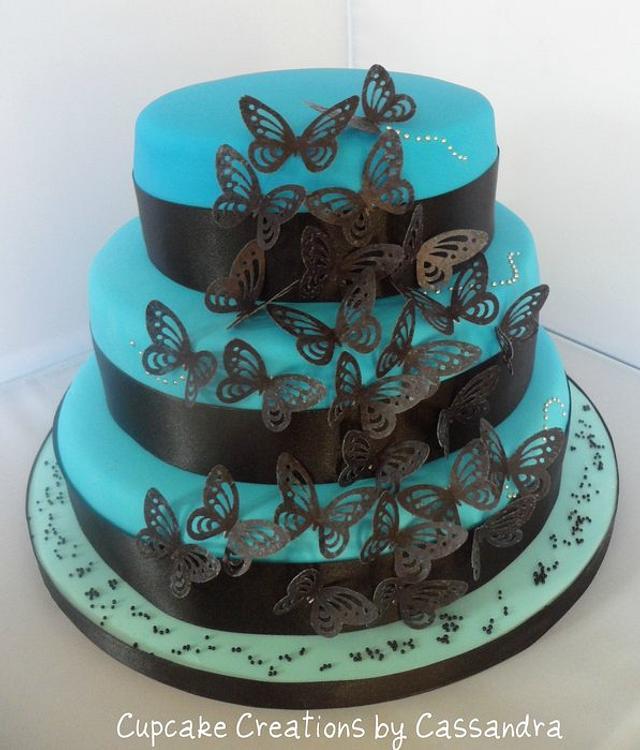 3 Tier Butterfly cake