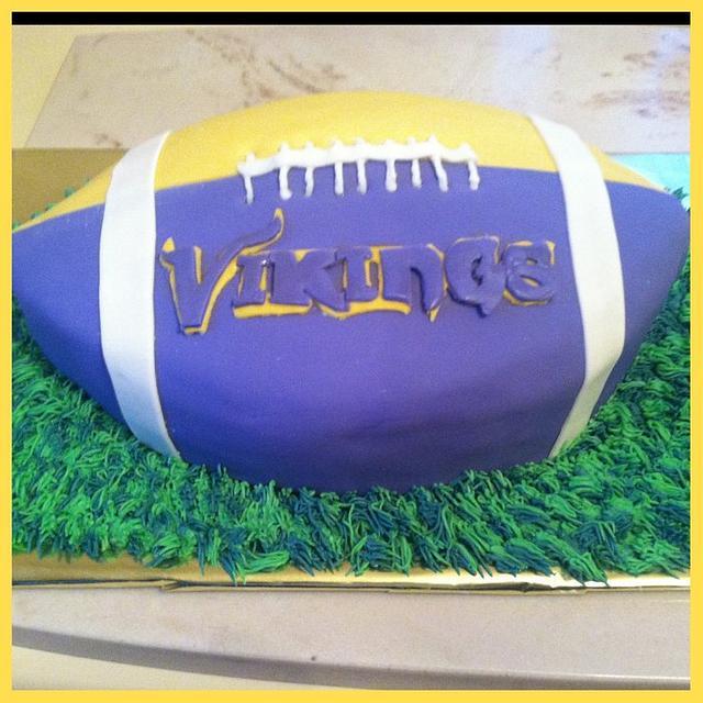 Minnesota Vikings Football Cake