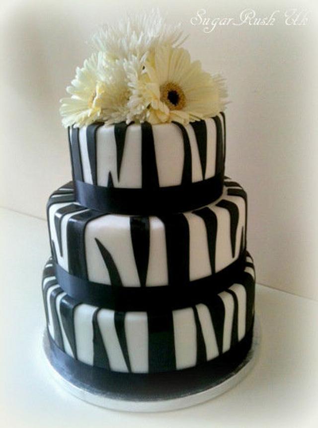 Zebra Wedding Cake