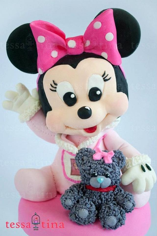 Minnie Mouse and Bear Cake