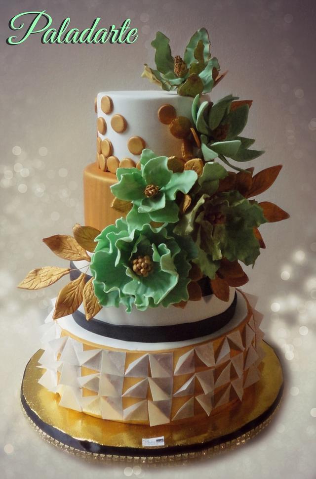 golden-mint cake
