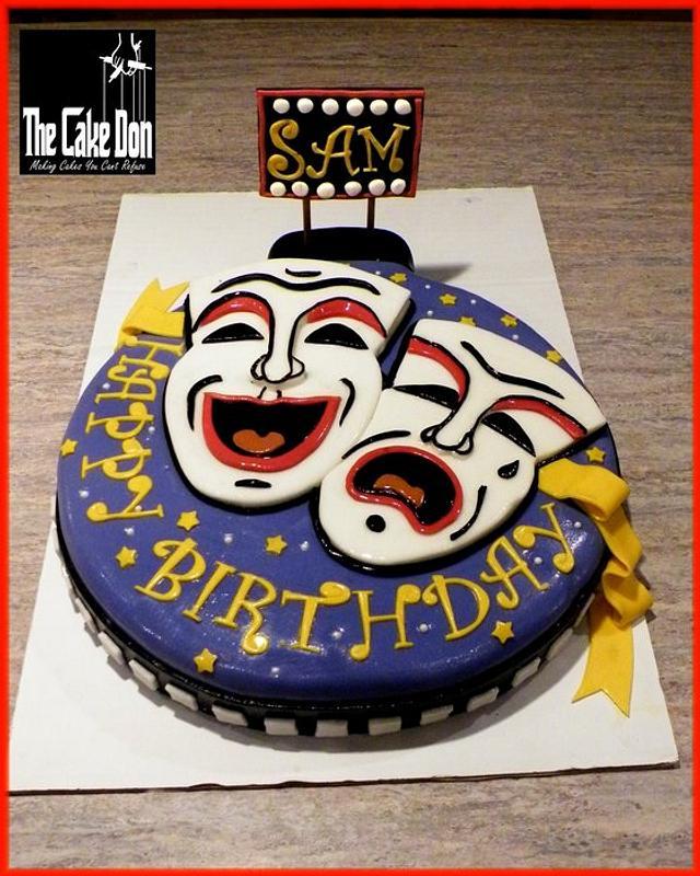 THE NO BUSINESS LIKE SHOW BUSINESS BIRTHDAY CAKE