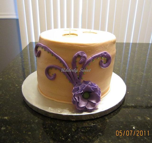 3 Wick Candle Cake
