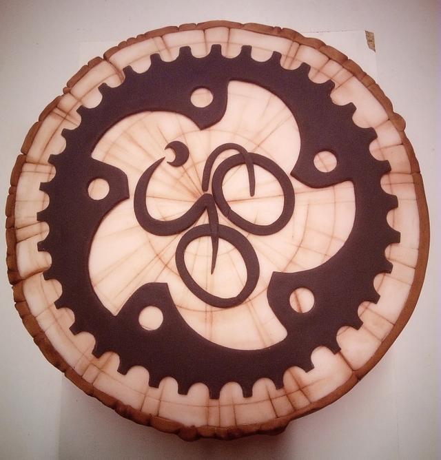 hand painted bike cake