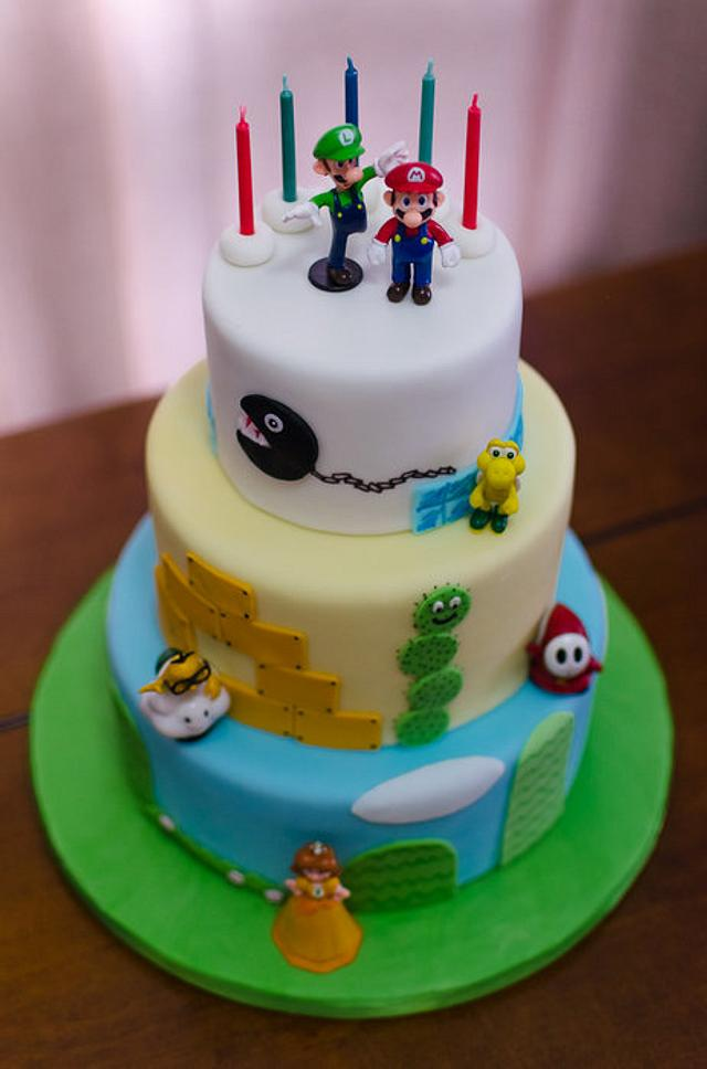 Miraculous Super Mario Bros Birthday Cake By Hello Sugar Cakesdecor Funny Birthday Cards Online Bapapcheapnameinfo
