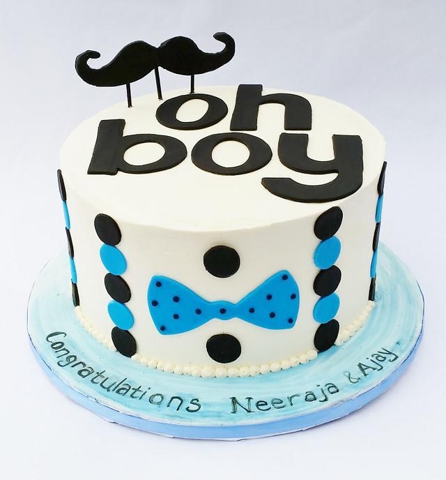 Oh Boy Baby Shower Cake Cake By Lauren Cortesi Cakesdecor