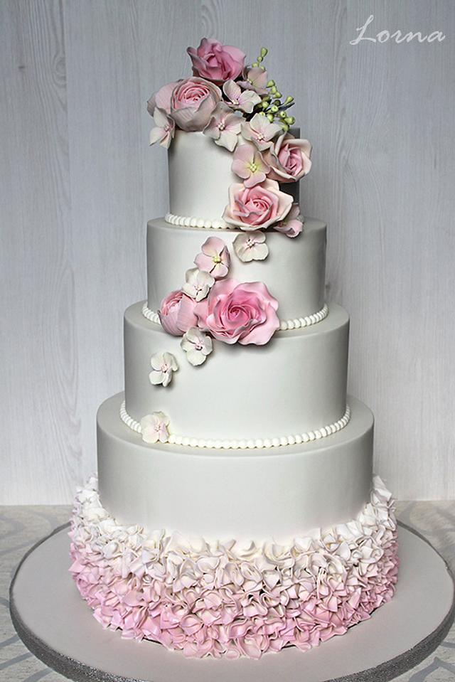 Wedding white & pink