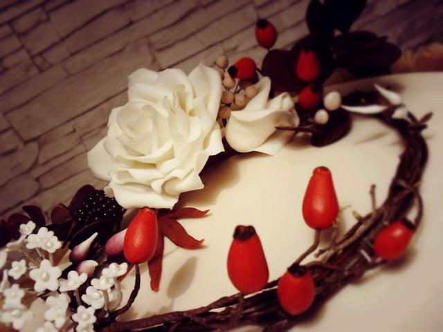 autumn themed birthday cake
