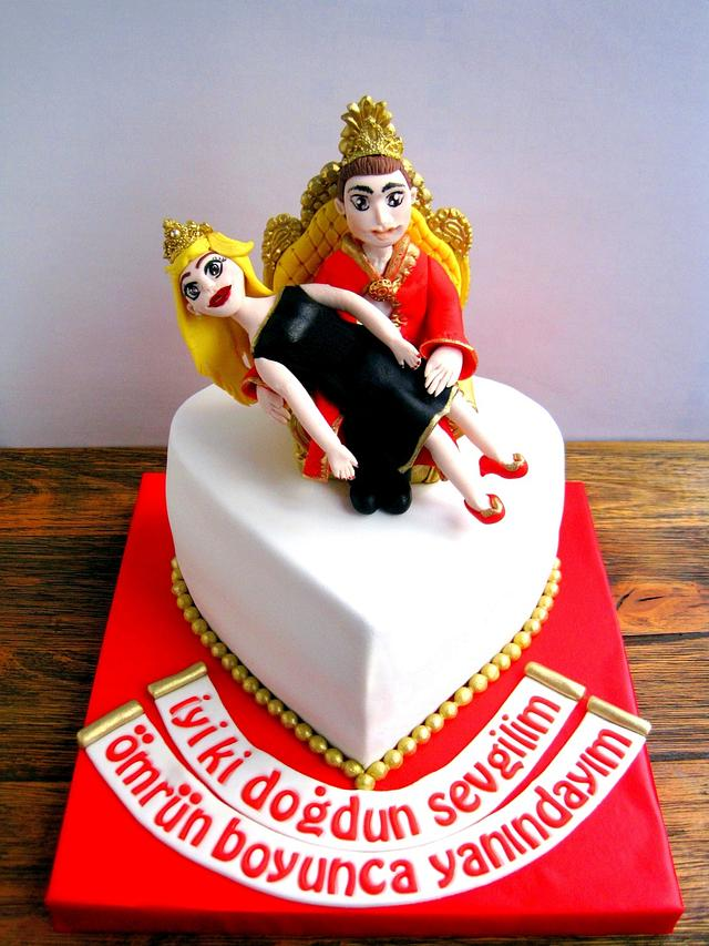 Wondrous King And Queen Birthday Cake Cake By Sekerli Seyler Cakesdecor Funny Birthday Cards Online Alyptdamsfinfo