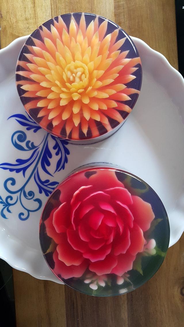 3D Jelly Flower cake