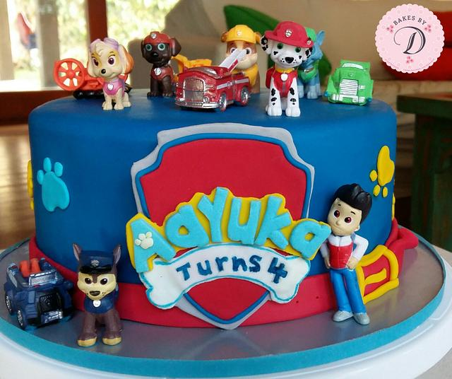 Pleasing Paw Patrol Cake 4Th Birthday Cake By Bakes By D Cakesdecor Birthday Cards Printable Opercafe Filternl