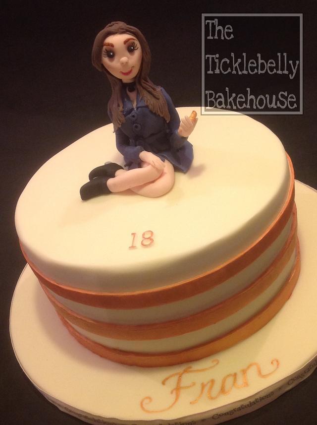 18th rose gold selfie cake