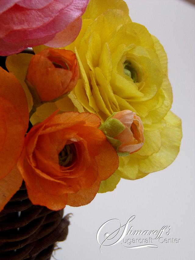 Ranunculus Flowers from Wafer Paper