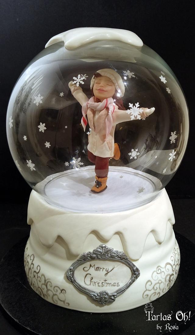 Snow globe musical cake (CPC Christmas Collaboration)