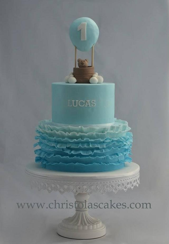 Astonishing Hot Air Balloon Boys 1St Birthday Cake By Cakesdecor Funny Birthday Cards Online Necthendildamsfinfo