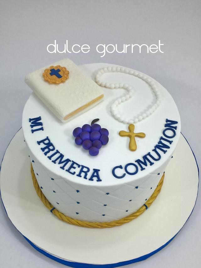 Communion cake for the twin brothers