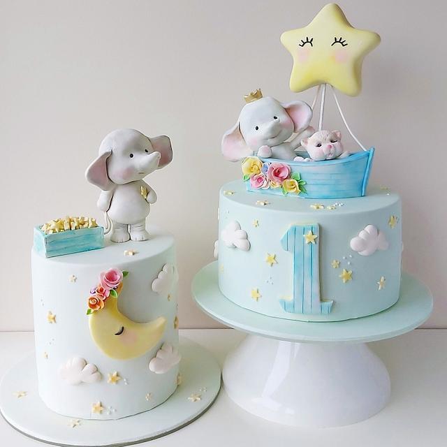 Enjoyable Elephant Birthday Cake Cake By Tatlibirseyler Cakesdecor Funny Birthday Cards Online Overcheapnameinfo