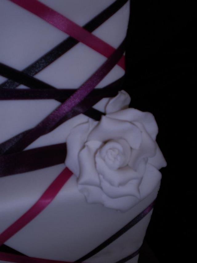 Ribbon Wedding/Grooms cake