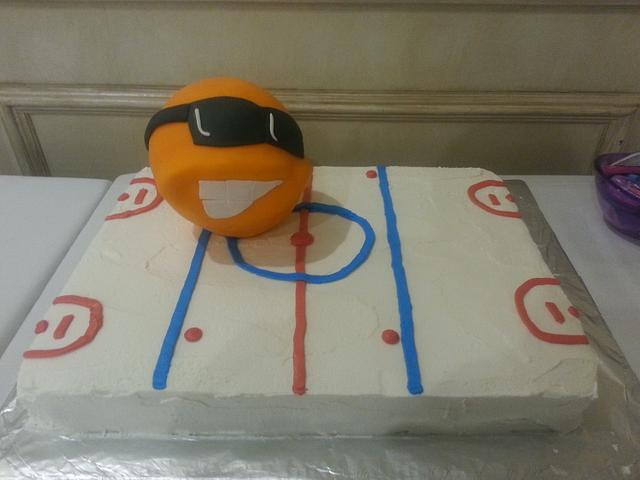 Renegade Broomball Cake