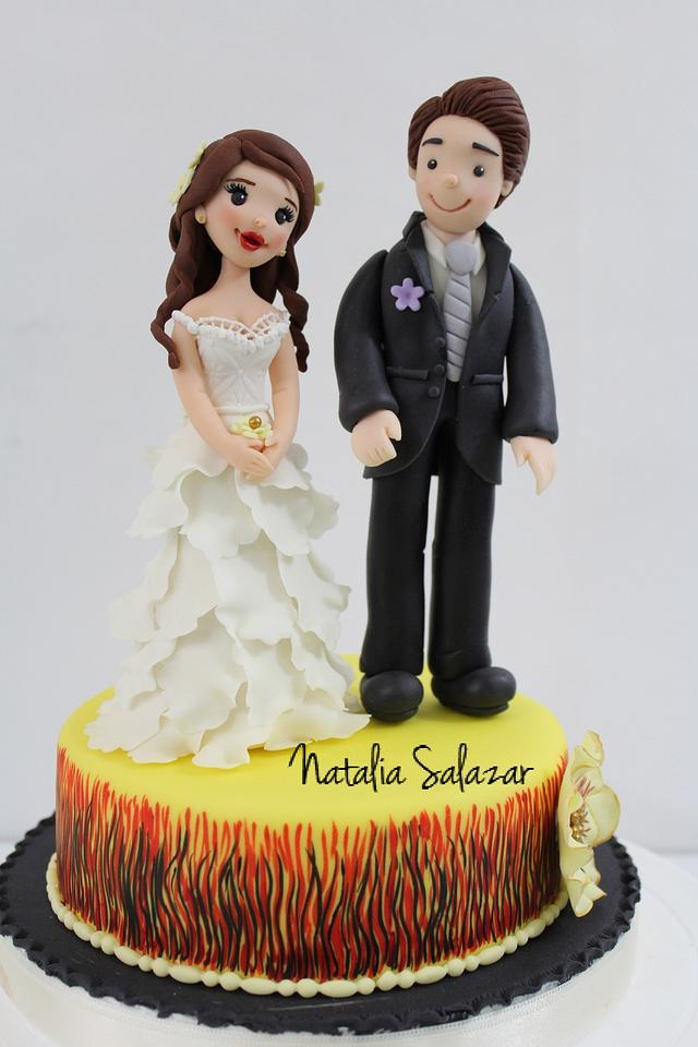 Bride and Groom topper cake