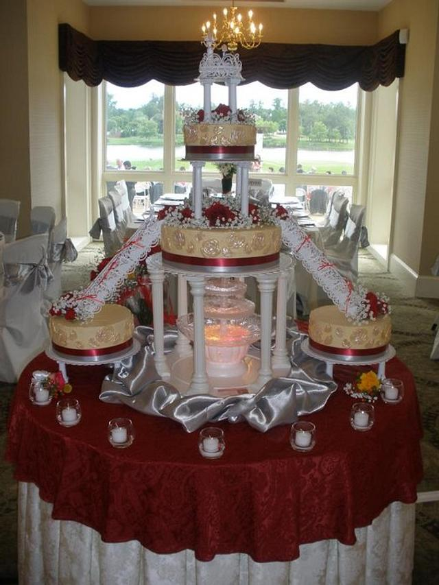 Bridge of Love wedding cake