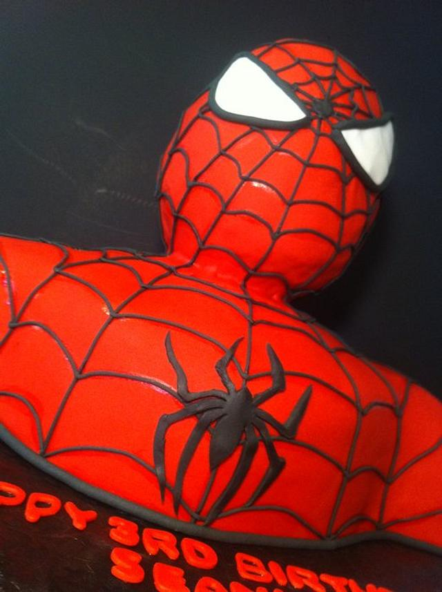 3D Spiderman Bust Cake