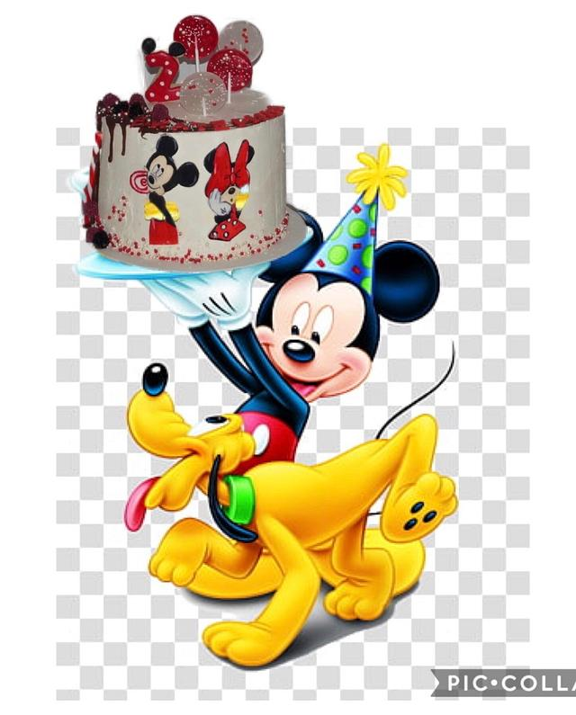 Hand painted Mickey Mouse cake
