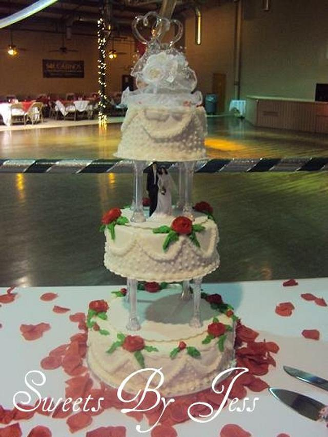 Old school wedding cake