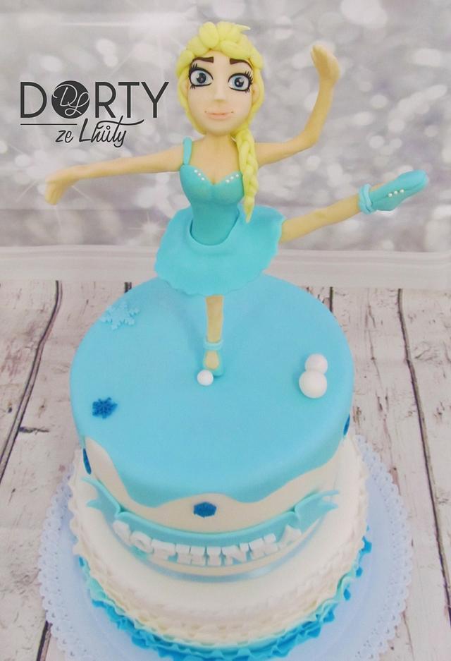 Elsa ballerina cake