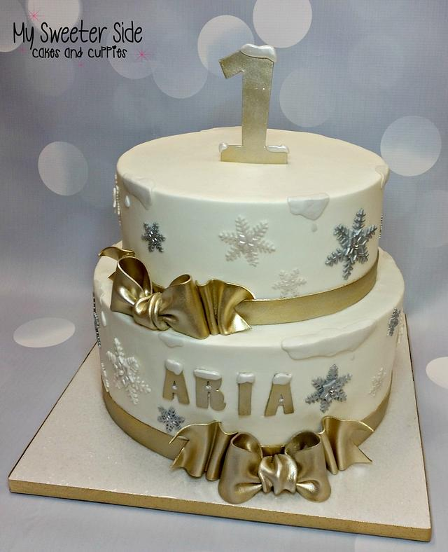 Wondrous Snowflake Birthday Cake Cake By Pam From My Sweeter Cakesdecor Funny Birthday Cards Online Alyptdamsfinfo