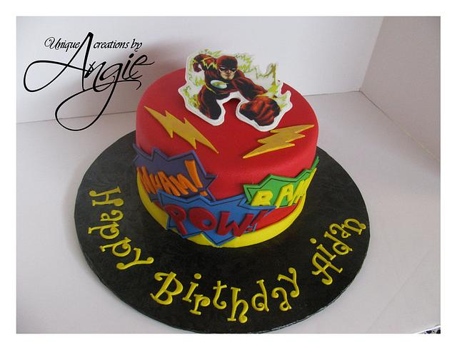flash the superhero cake