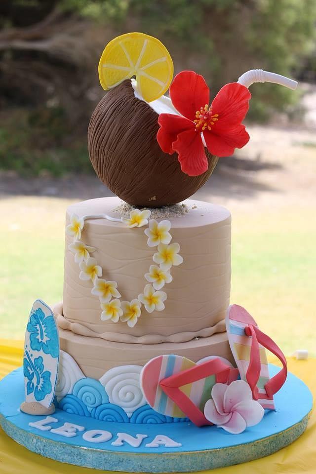 Prime Hawaiian Birthday Cake Cake By Julie Manundo Cakesdecor Funny Birthday Cards Online Fluifree Goldxyz
