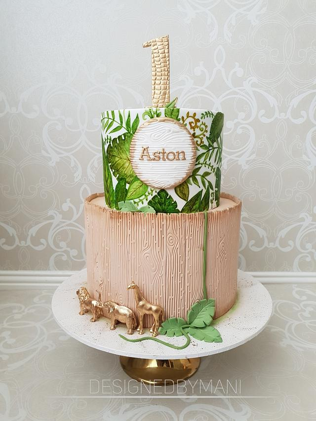 Phenomenal Tropical Safari 1St Birthday Cake By Designed By Mani Cakesdecor Funny Birthday Cards Online Alyptdamsfinfo