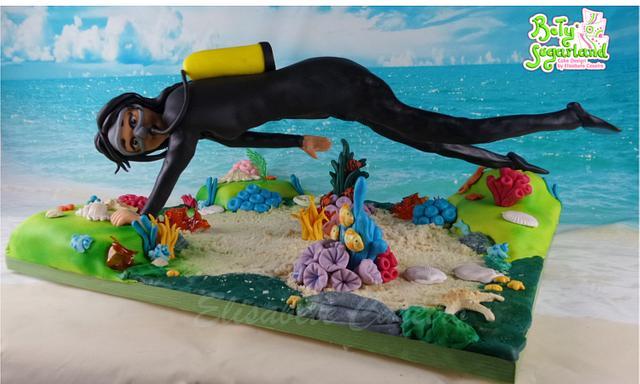 Scuba Diving (gravity defying cake)