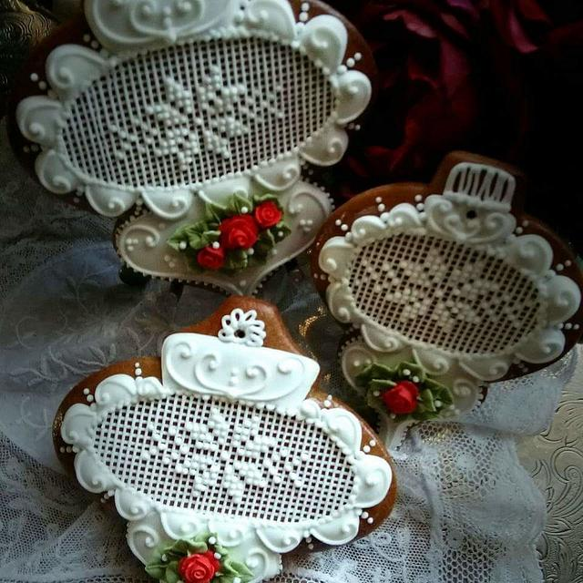 Christmas needlepoint ornaments