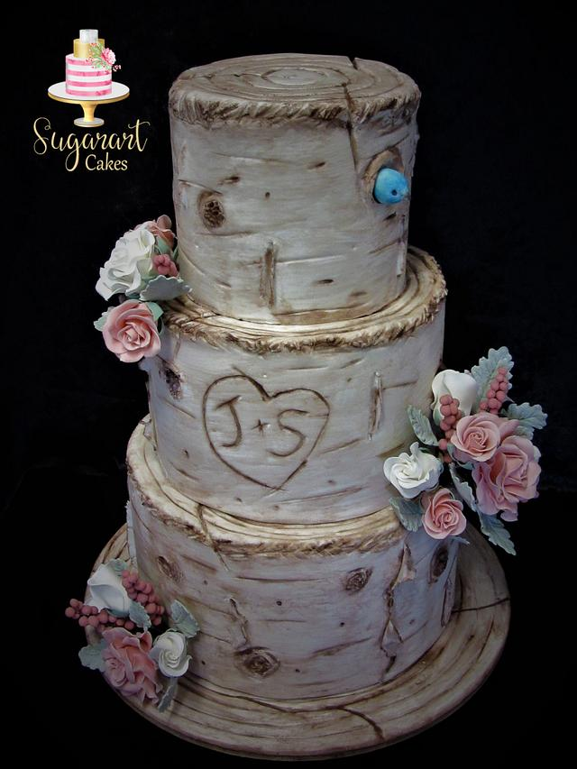 Birchtree Wedding with Roses