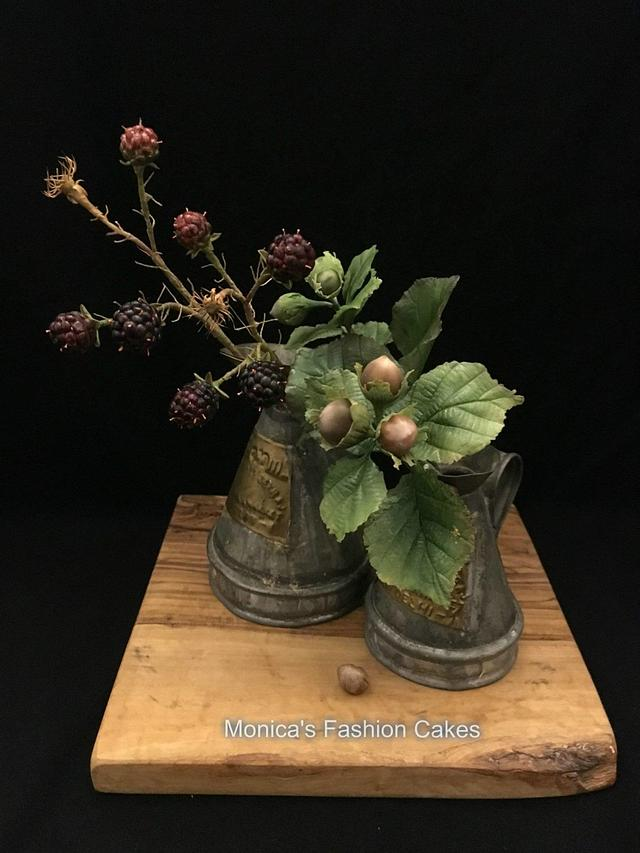 blackberries and hazelnuts