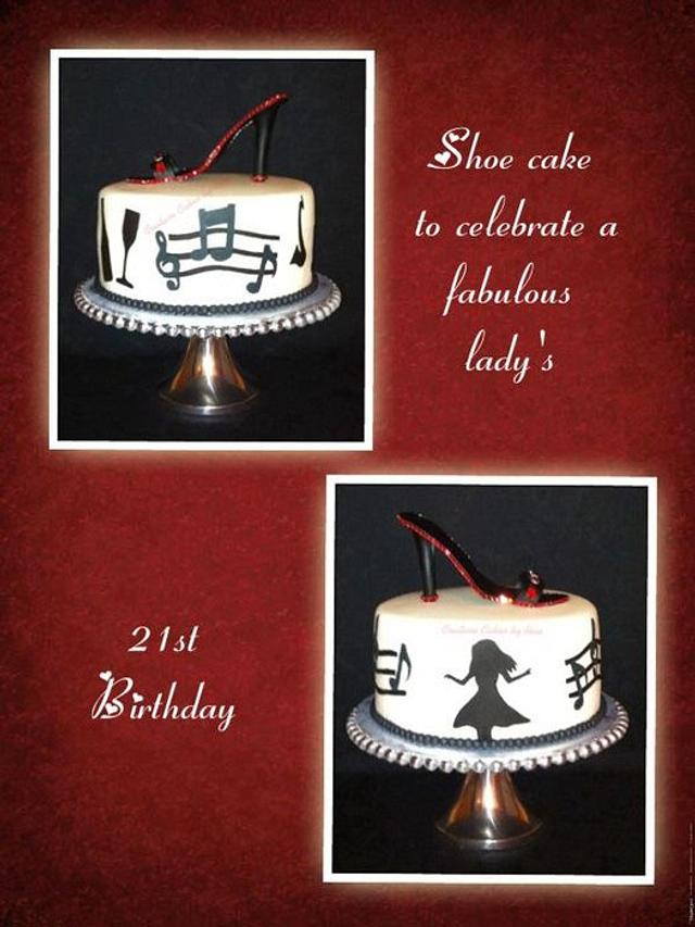 Dancing Gumpaste Shoe Cake