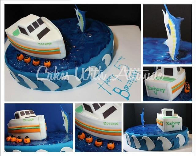 5th Birthday Fishing Cake