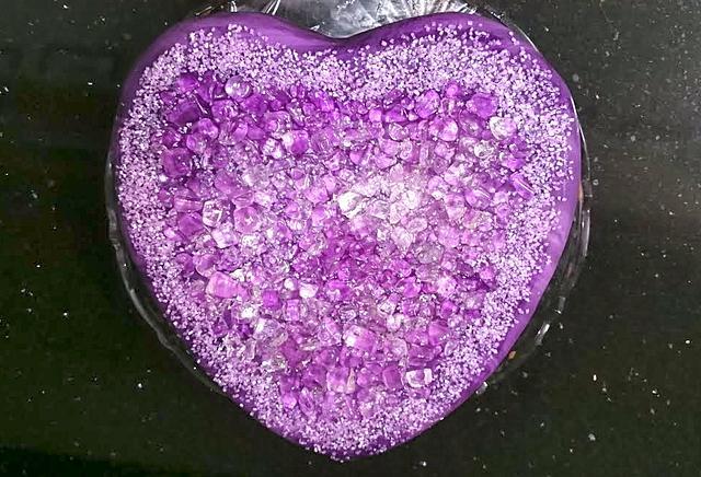 Amethyst Heart Cake!