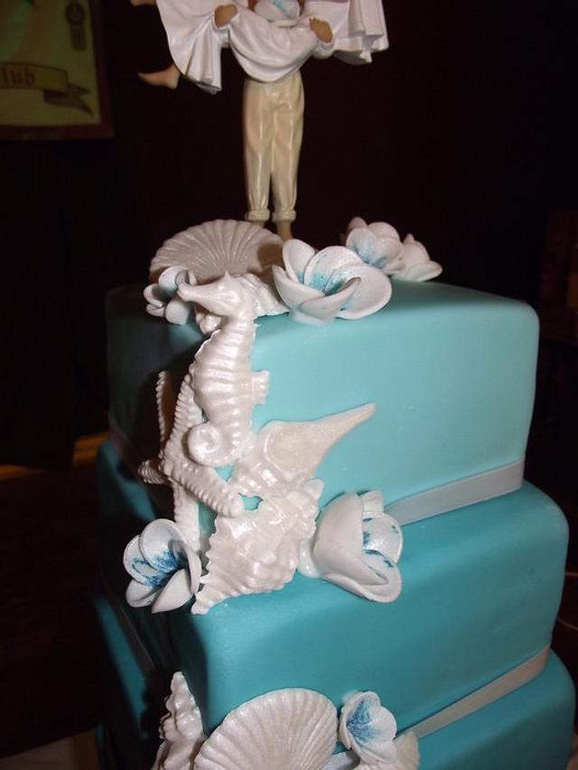 seashells and turquoise