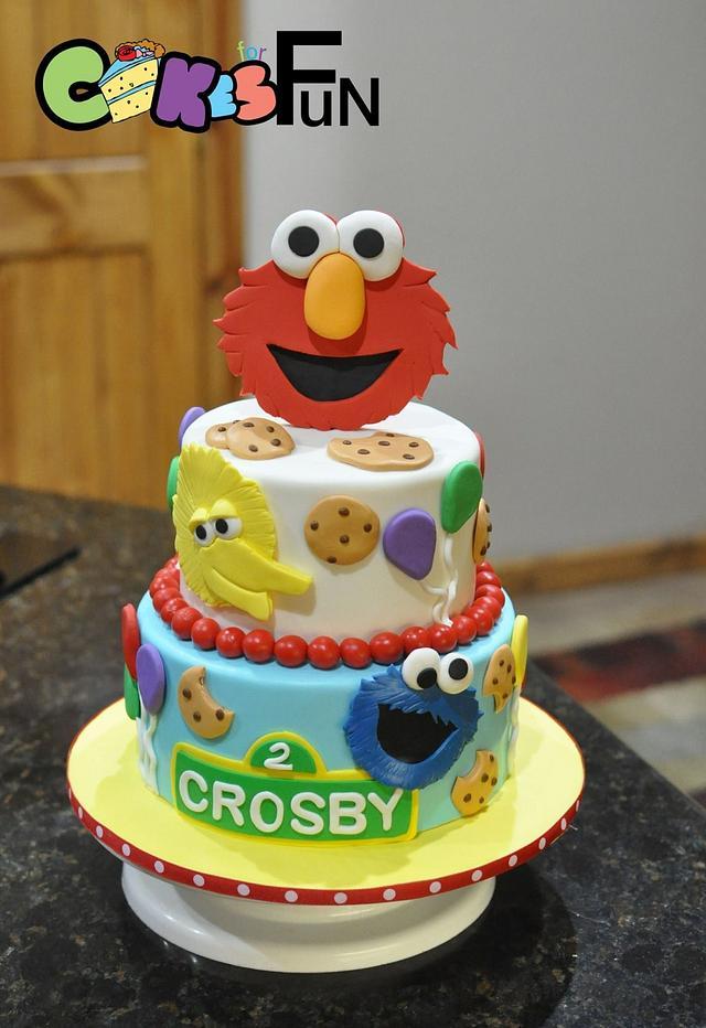 Superb Sesame Street Birthday Cake Cake By Cakes For Fun Cakesdecor Funny Birthday Cards Online Necthendildamsfinfo