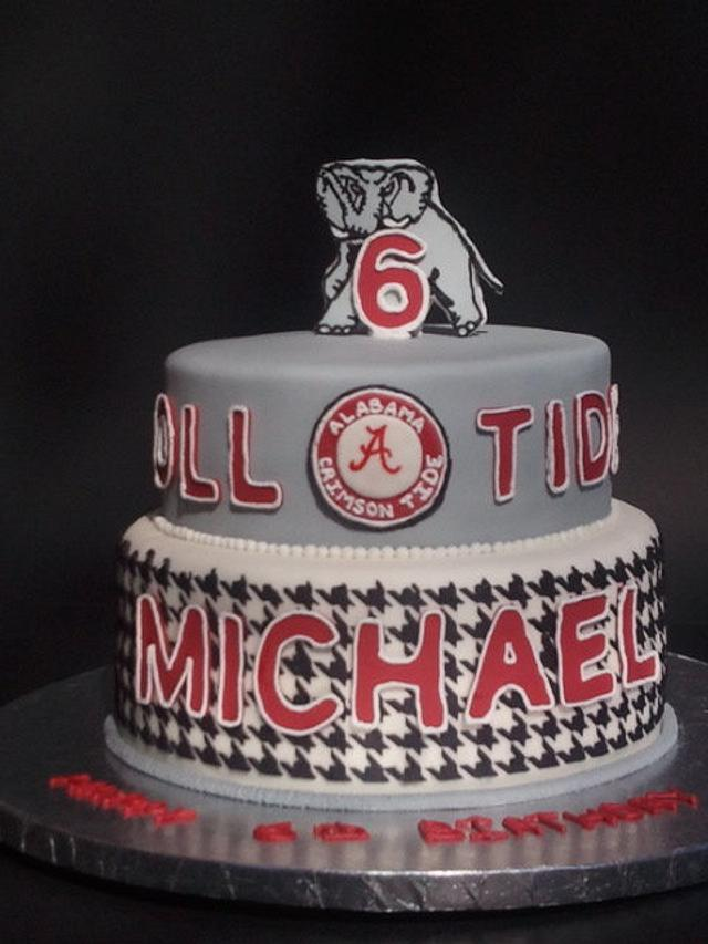 Astonishing Alabama Crimson Tide Birthday Cake Cake By Mimis Sweet Cakesdecor Personalised Birthday Cards Veneteletsinfo