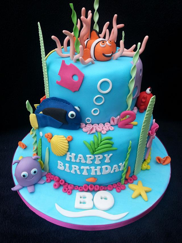 Enjoyable Finding Nemo Birthday Cake Cake By Mrsmurraycakes Cakesdecor Funny Birthday Cards Online Elaedamsfinfo