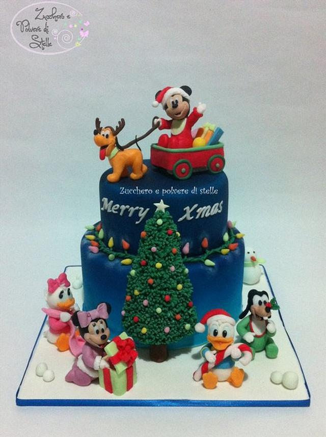Christmas cake: Baby Mickey Mouse and friends