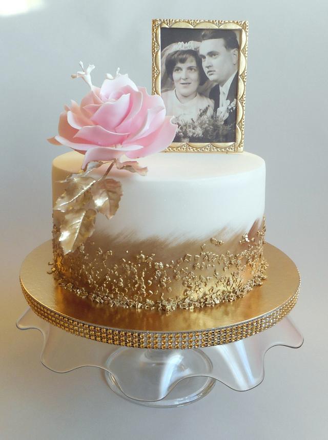 50th Wedding Anniversary Cake Cake By Jitkap Cakesdecor