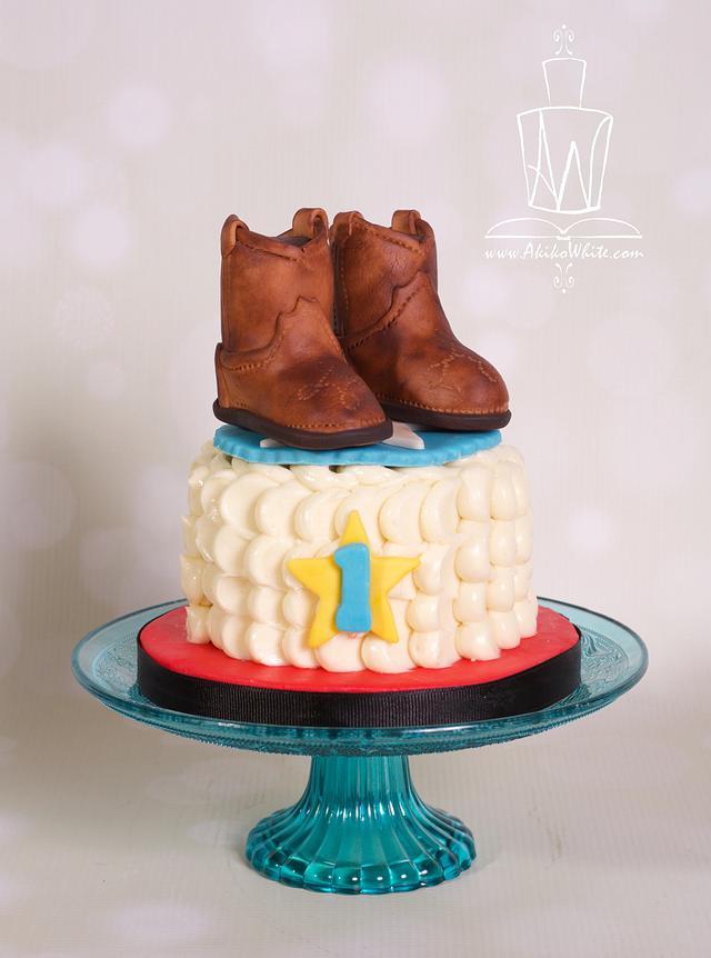 Cowboy boots Smash Cake