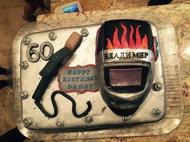 Dads Birthday  Welder Cake