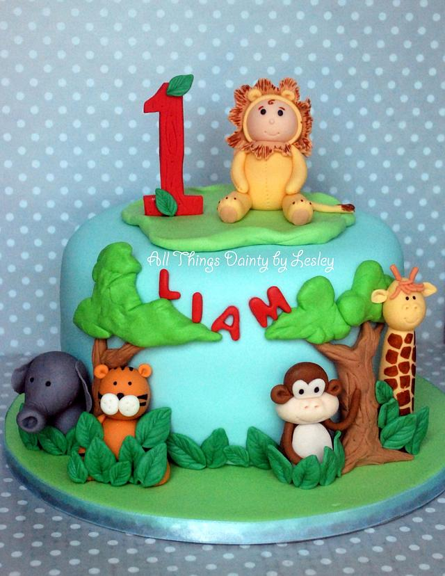 Wondrous Safari Themed Birthday Cake And Cupcakes Cake By All Cakesdecor Funny Birthday Cards Online Chimdamsfinfo