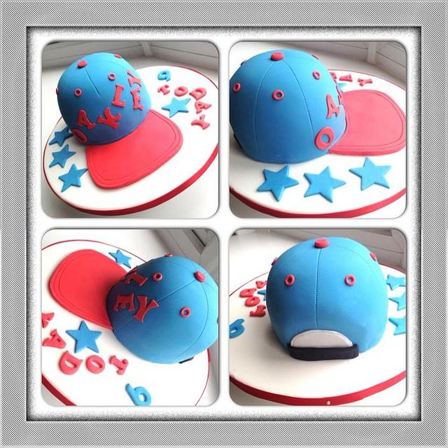 snapback cap cake
